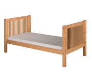Camaflexi High Platform Bed Twin Size Natural | Camaflexi Furniture | CF-E1011