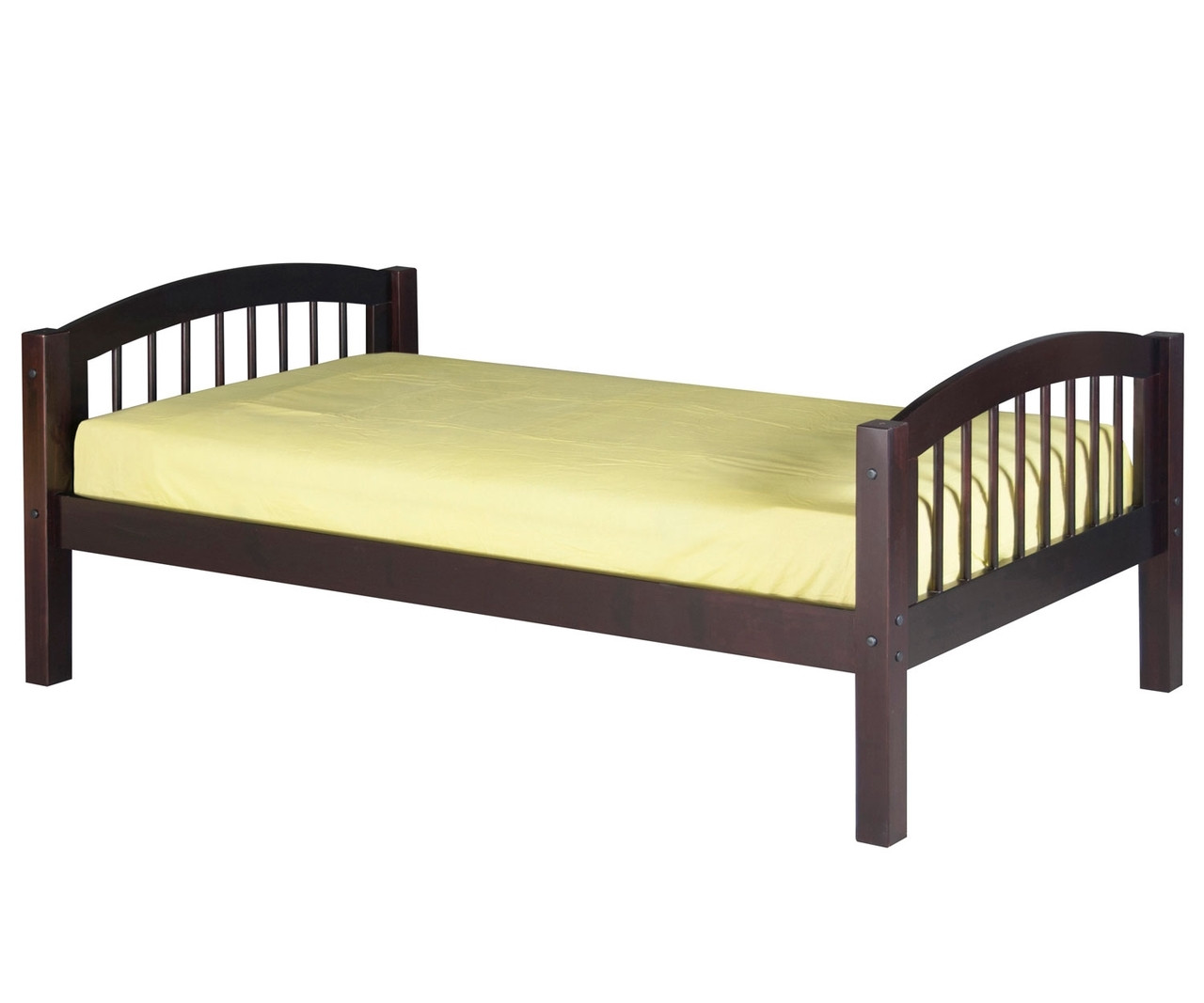 Camaflexi Twin Platform Bed In Cappuccino Finish E102 Camaflexi Furniture Solid Wood Kids