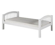 Camaflexi Low Platform Bed Twin Size White | Camaflexi Furniture | CF-E103