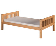 Camaflexi Low Platform Bed Twin Size Natural | Camaflexi Furniture | CF-E111