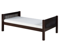 Camaflexi Low Platform Bed Twin Size Cappuccino 1 | Camaflexi Furniture | CF-E112