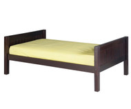 Camaflexi Low Platform Bed Twin Size Cappuccino 2 | Camaflexi Furniture | CF-E122