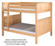 Camaflexi High Bunk Bed Full Size White | Camaflexi Furniture | CF-E1613