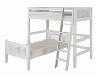 Camaflexi L-Shaped High Loft Bed Twin Size White | Camaflexi Furniture | CF-E1813