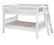 Camaflexi Low Bunk Bed Twin Size White 4 | Camaflexi Furniture | CF-E2013L