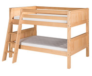 Camaflexi Low Bunk Bed Twin Size Natural 4 | Camaflexi Furniture | CF-E2021A