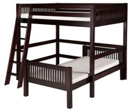 Camaflexi L-Shaped High Loft Bed Full over Twin Size Cappuccino | Camaflexi Furniture | CF-E2112