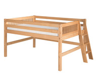 Camaflexi Low Loft Bed Full Size Natural 1 | Camaflexi Furniture | CF-E411LF
