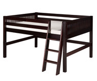 Camaflexi Low Loft Bed Full Size Cappuccino | Camaflexi Furniture | CF-E412F