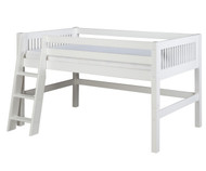 Camaflexi Low Loft Bed Twin Size White 1 | Camaflexi Furniture | CF-E413