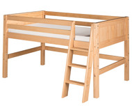Camaflexi Low Loft Bed Twin Size Natural 2 | Camaflexi Furniture | CF-E421