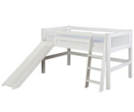 Camaflexi Low Loft Bed with Slide Twin Size White 1 | Camaflexi Furniture | CF-E513