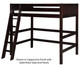 Camaflexi High Loft Bed Twin Size Cappuccino 1 | Camaflexi Furniture | CF-E612