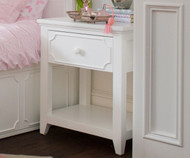 Craft 1 Drawer Nightstand White | Craft Furniture | CK-14-1006-002