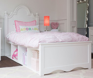 Craft ADELAIDE Panel Bed with Cubbies Twin Size White   Craft Furniture   CK-ADELAIDE3