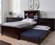 Craft BOSTON Bookcase Bed with Trundle Twin Size Espresso | Craft Furniture | CK-BOSTONX