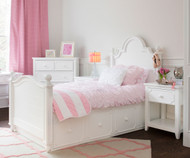 Craft SYDNEY Panel Bed with Drawers Twin Size White | Craft Furniture | CK-SYDNEY1