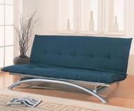 Coaster Silver Metal Futon Sofa   Coaster Furniture   CS300008