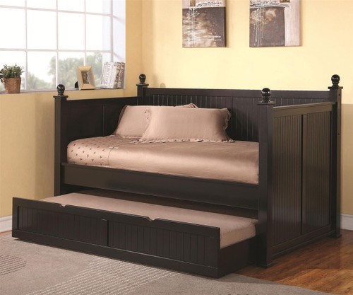 Nantucket Day Bed With Trundle   Black | Coaster Furniture | CS300027