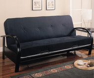 Coaster Black Metal Futon Sofa   Coaster Furniture   CS300159