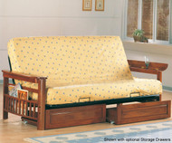 Coaster Weathered Oak Futon Sofa   Coaster Furniture   CS4075