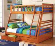 Sedona Twin over Full Bunk Bed with Drawers | Coaster Furniture | CS460183