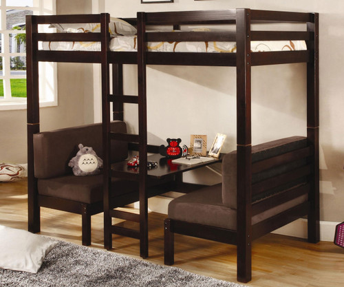 Coaster Twin Size Convertible Loft Bed Cappuccino   Coaster Furniture    CS460263. Coaster Convertible Loft Bed 460263   Coaster Kids Furniture