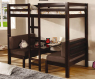 Coaster Twin Size Convertible Loft Bed Cappuccino | Coaster Furniture | CS460263