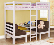 Coaster Twin Size Convertible Loft Bed White | Coaster Furniture | CS460273