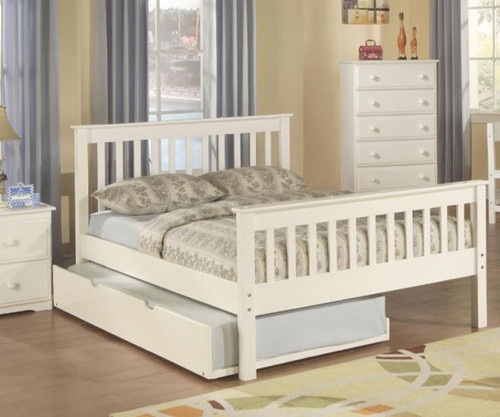 monaco full size bed white donco trading dt119fwcl