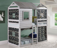 Deer Blind Bunk Bed with Camo Tent | Donco Trading | DT1370TTLG-GC