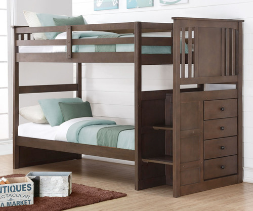 Attirant Princeton Stairway Bunk Bed | Donco Trading | DT2204SG