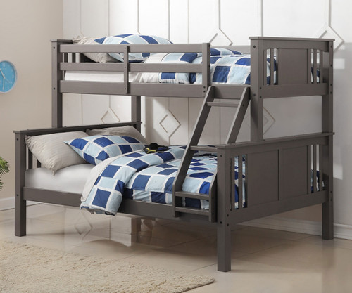 Princeton Twin Over Full Bunk Bed Slate Grey Donco Trading Dt318tfsg