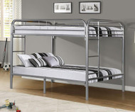 Donco Full over Full Metal Bunk Bed - Silver | Donco | DT4510-Silver