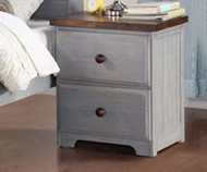 Washed Denim Nightstand | Donco Trading | DTB0312-NS
