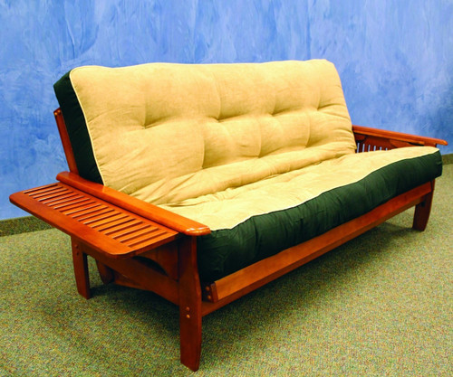 Denver Futon Sofa Dark Cherry Donco Trading Dtdenverdc