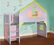 Doll House Loft Bed with Stairs | Discovery World | DWF0300