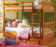 Ridgeline Mission Bunk Bed 1 | Discovery World Furniture | DWF2111-CL