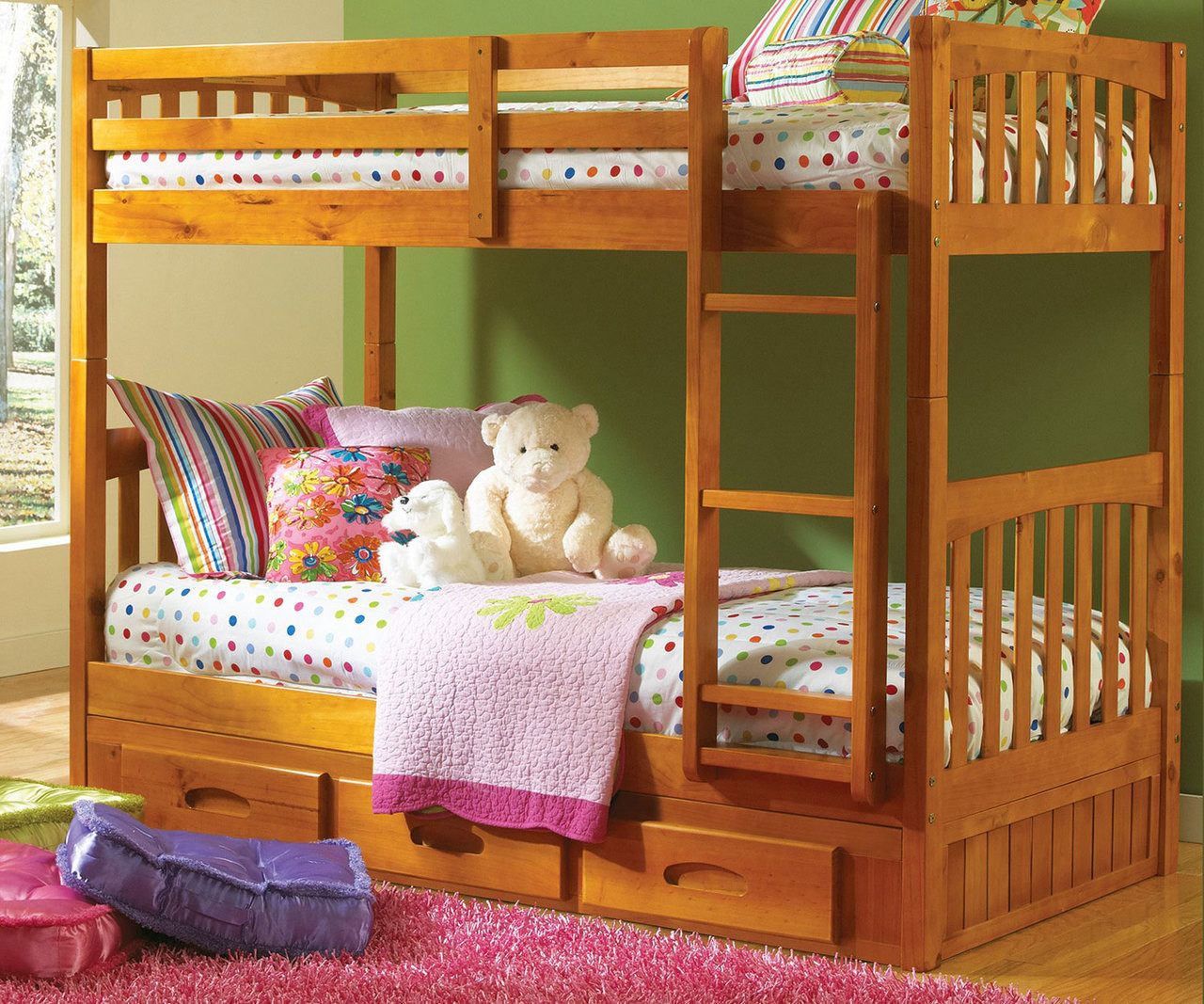 Discovery Honey Mission Bunk Bed For Kids Bedroom Furniture Twin