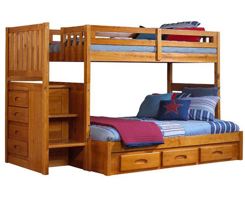 Buy Honey Collection Mission Kids Bunk Beds With Stairs