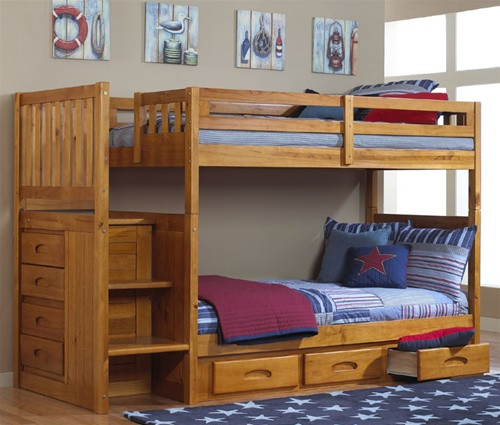 Kids Honey Bunk Bed With Stairs In Orlando By Discovery World