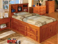 Ridgeline Twin Size  Bookcase Captains Bed | Discovery World Furniture | DWF2120-CL