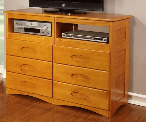 Discovery World Furniture Entertainment Dresser 2171 | Honey ...