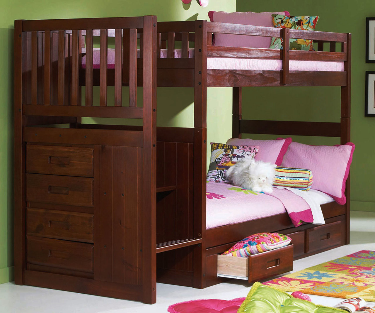 Merlot Stairstepper Bunk Bed In Orlando And Tampa Fl Kids Bunk