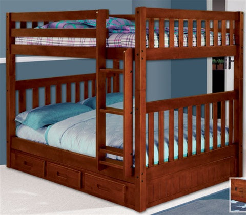 Discovery Merlot Mission Full Over Full Bunk Bed Merlot Collection