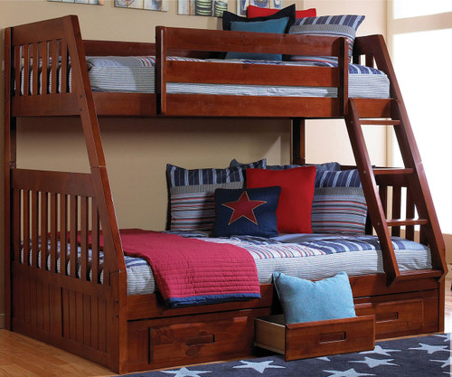 acadia twin over full bunk bed