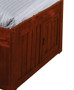 Acadia Merlot Twin Bookcase Captains Trundle  Bed | 25105 | DWF2820-3DRTR
