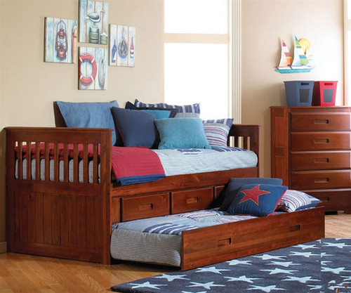 Acadia Captains Trundle Bed | Discovery World Furniture | DWF2835TR