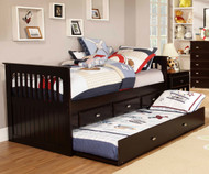 Espresso Captains Trundle Bed