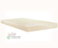 "E-Rest 6"" Memory Foam Full Mattress Natural 
